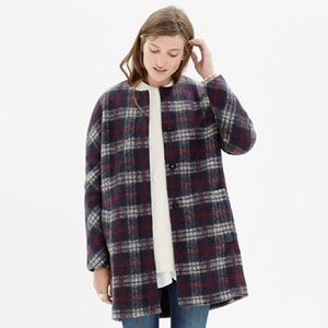 Madewell Plaid Estate Coat